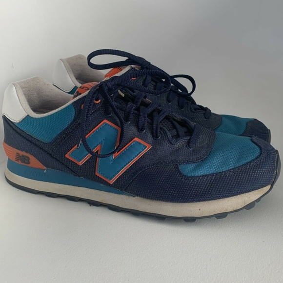 best sneakers 4b840 aba8a New Balance 574 mens sz 11 blue orange ML574WNC